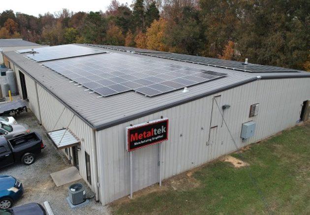 SolFarm Solar co 100kW solar energy system