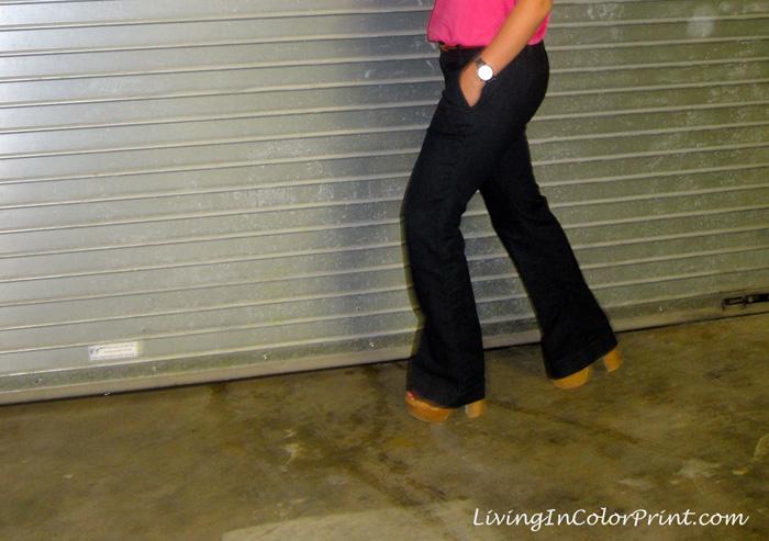 Wide Leg LOFT Jeans styled