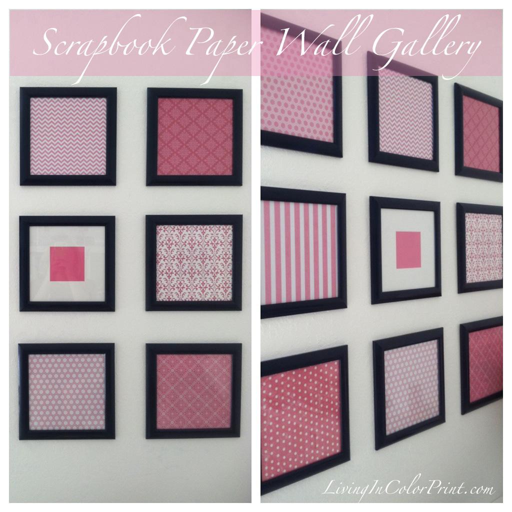 Scrapbook Paper Framed Wall Gallery