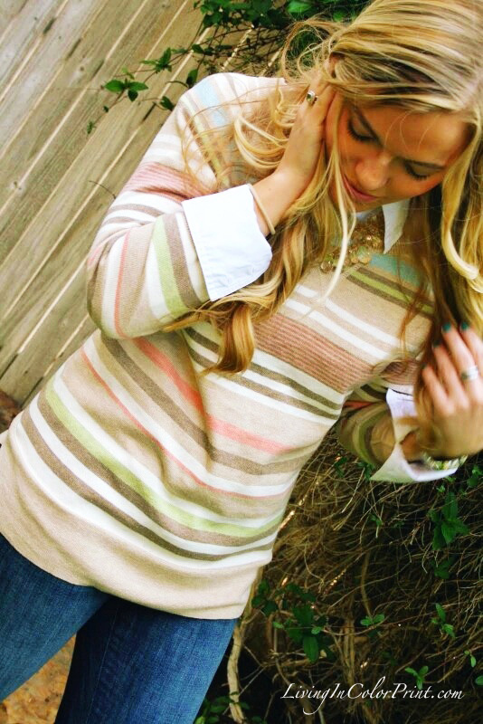 Pastel Stripe Sweater Kohls