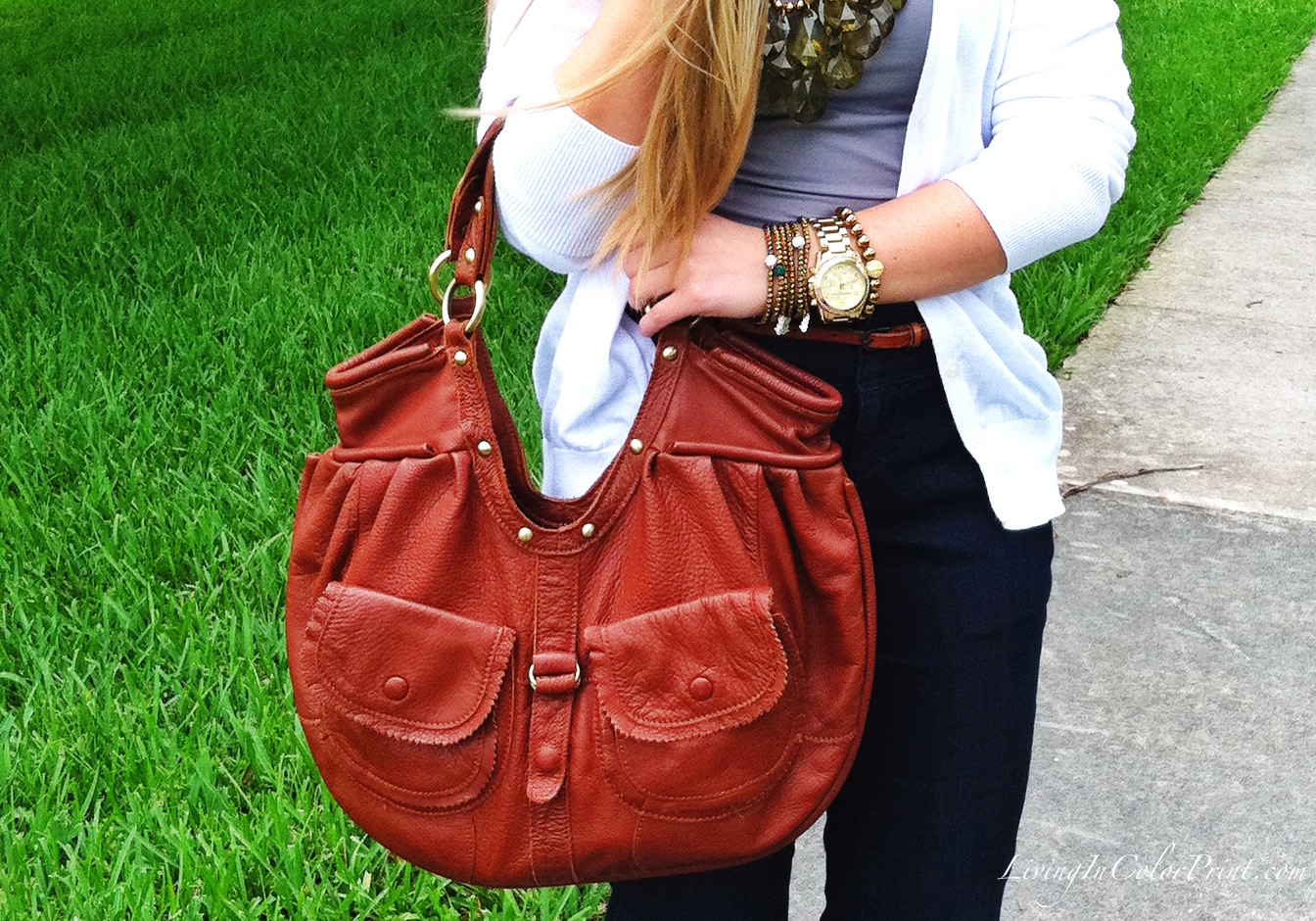 CRE Arm Candy and Cognac Purse