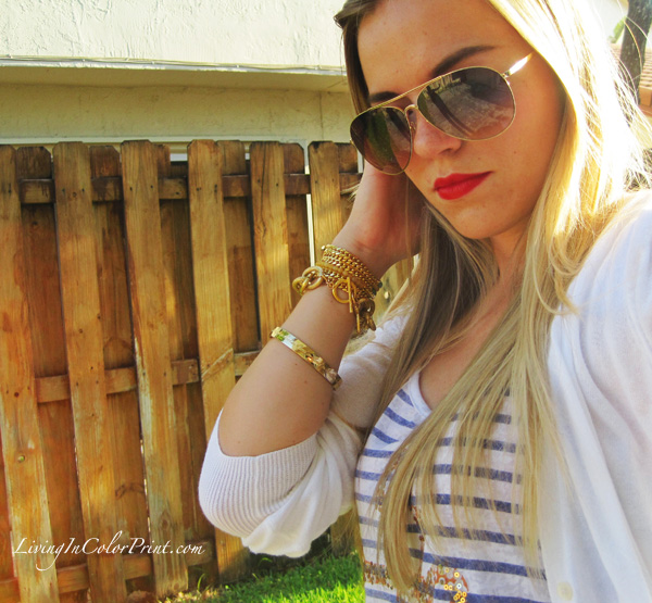 Nautical, sailor, blogger outfit, red lips, red pumps