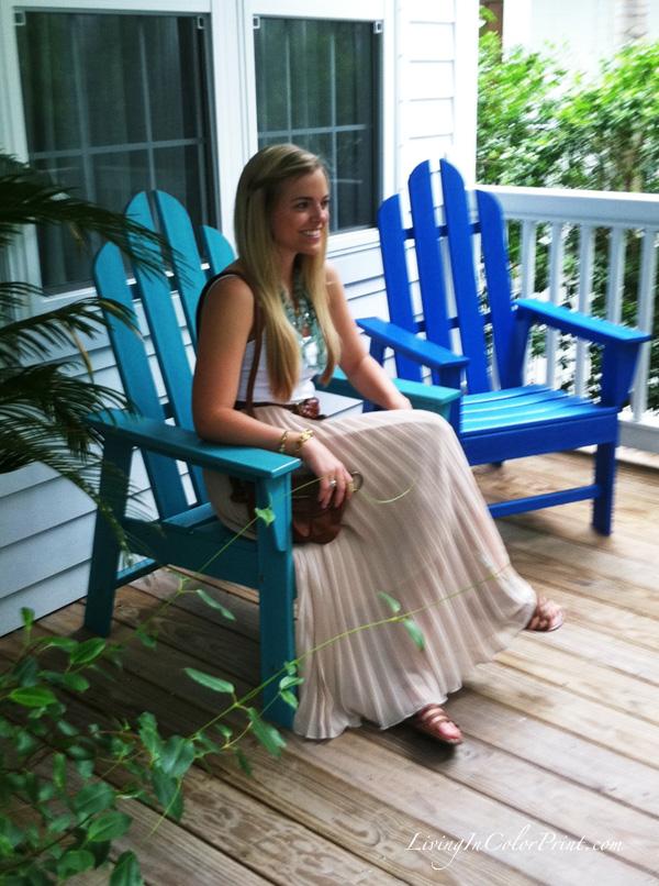 Key west, florida style, south florida blogger, beige maxi skirt