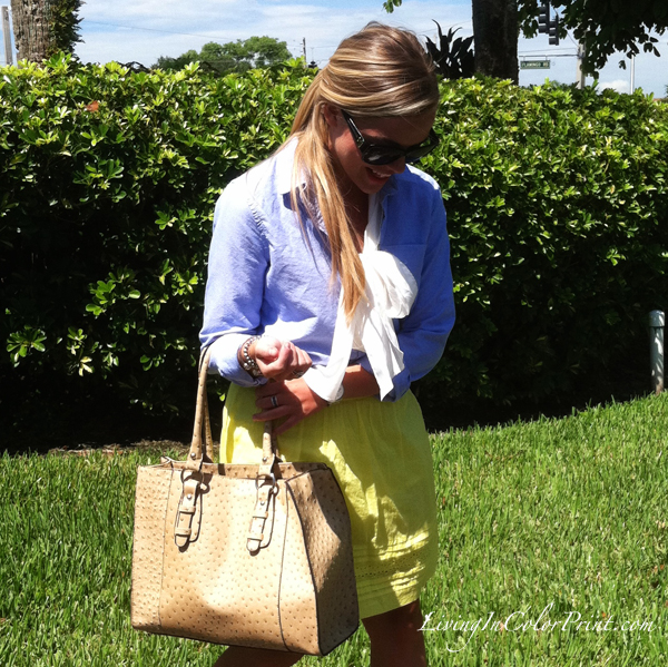 neon and chambray, miami fashion blogger, summer trends
