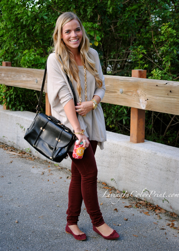 Garnet pants and flats for gameday