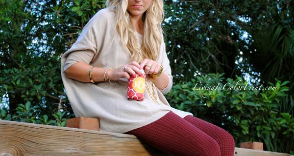 Garnet Pants for gameday, Florida State gameday fashion