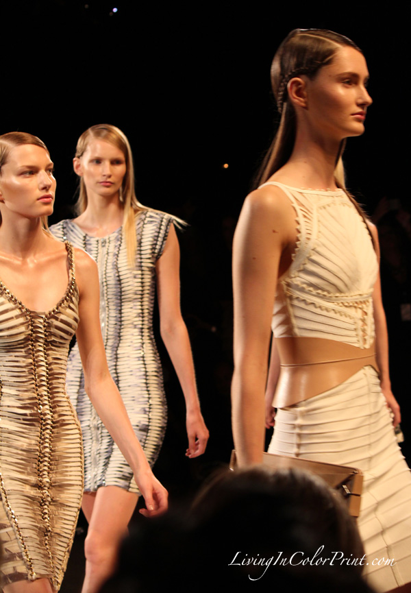 Herve Leger by Max Azria at NYFW S/S 2013 collection, runway collection by Herve Leger