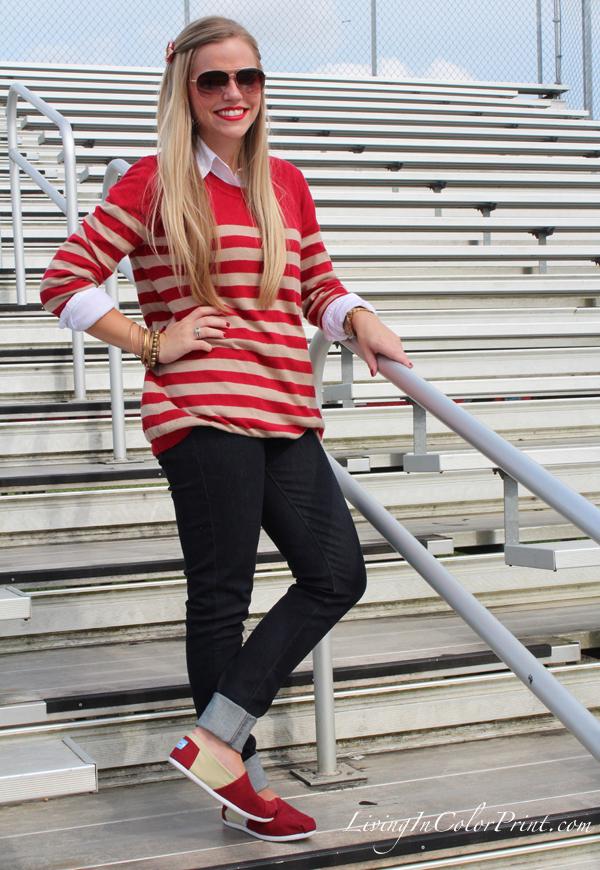 Levis jeans styled, FSU gameday fashion