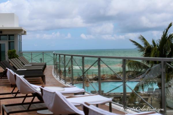 Elle Spa at Eden roc, rooftop terrace overlooking pool