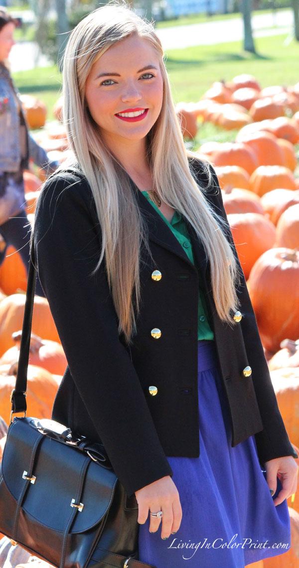 Alice & Trixie jacket, black military style coat, kristin clark blogger