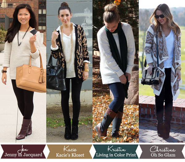 4 ways to wear oversized sweaters, how to style oversized seaters, walmart sweater styled