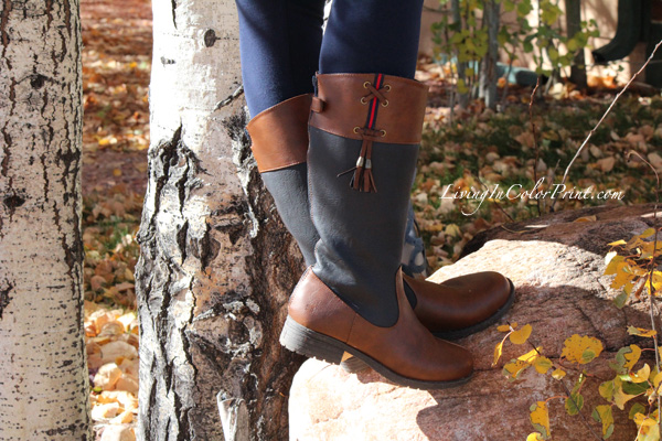 Cozy Oversized Sweater, 4 ways to wear, Tommy Hilfiger boots, brown and navy boots