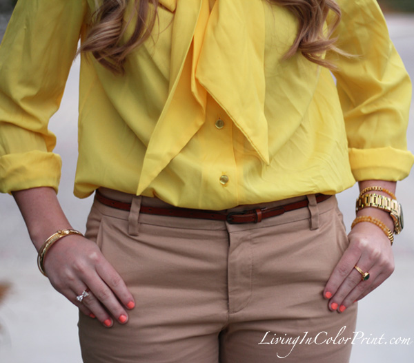 Camel + Yellow / Living In Color Print