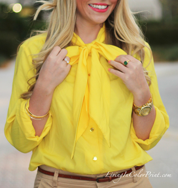 Camel + Yellow // Living In Color Print
