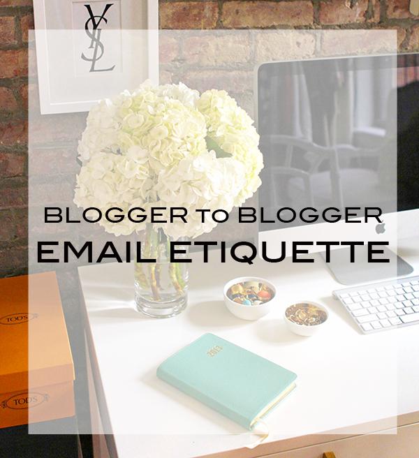 Blogger Email Etiquette