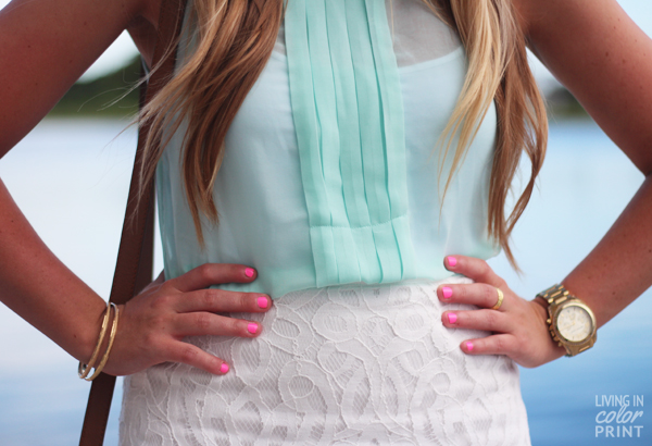 Mint + White Lace | Living In Color Print