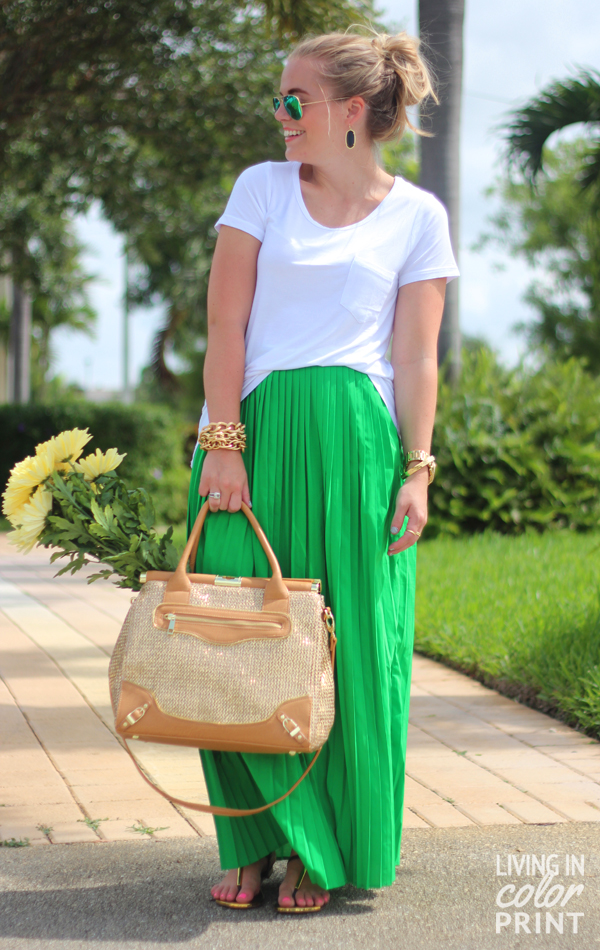 Kelly Green Maxi | Living In Color Print