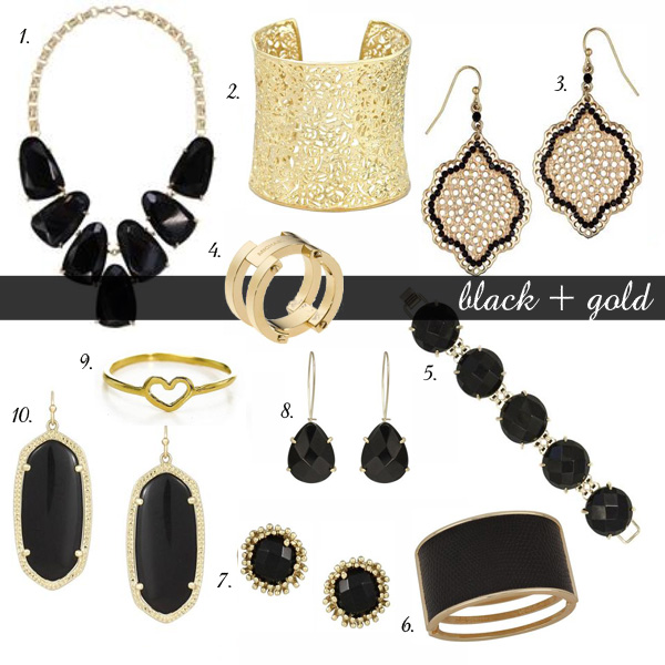 Gift Guide for the Bauble Fein | black + gold