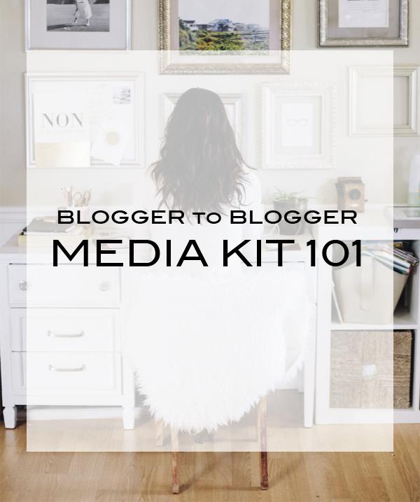 Blogger to Blogger | Media Kit 101