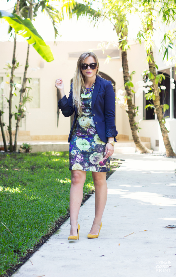 Navy Floral | Living In Color Print