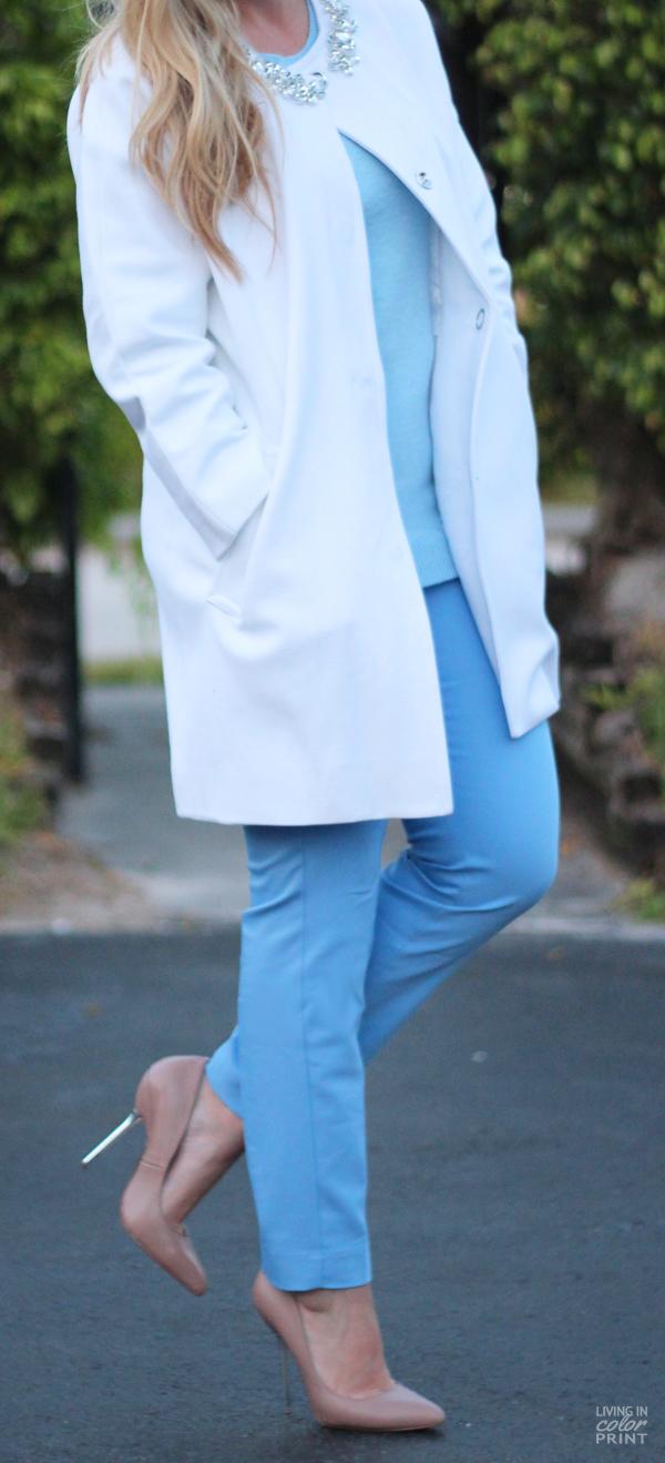 Jewel Collar Coat | Living In Color Print