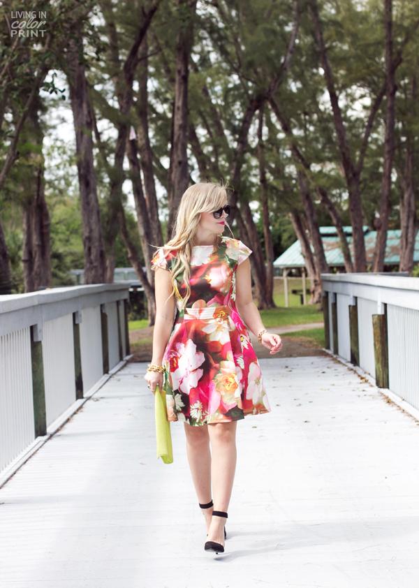 Rose Print Dress | Living In Color Print