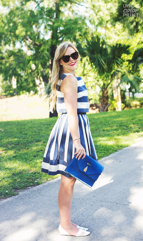 Blue + White Stripes | Living In Color Print