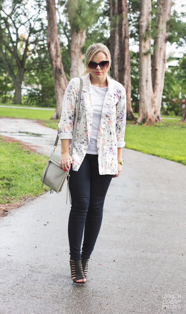 Floral Blazer | Living In Color Print