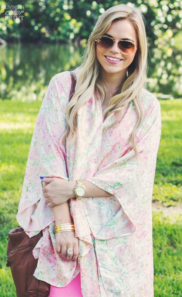 Floral Kimono | Living In Color Print