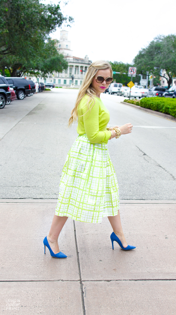 Lime Check | Living In Color Print