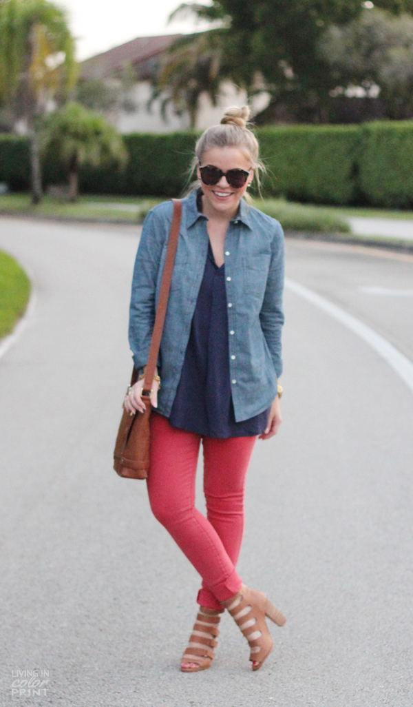 Apricot + Chambray | Living In Color Print