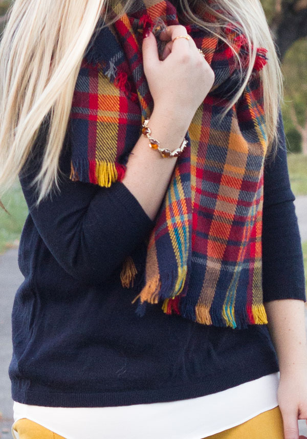 Mustard + Plaid Scarf