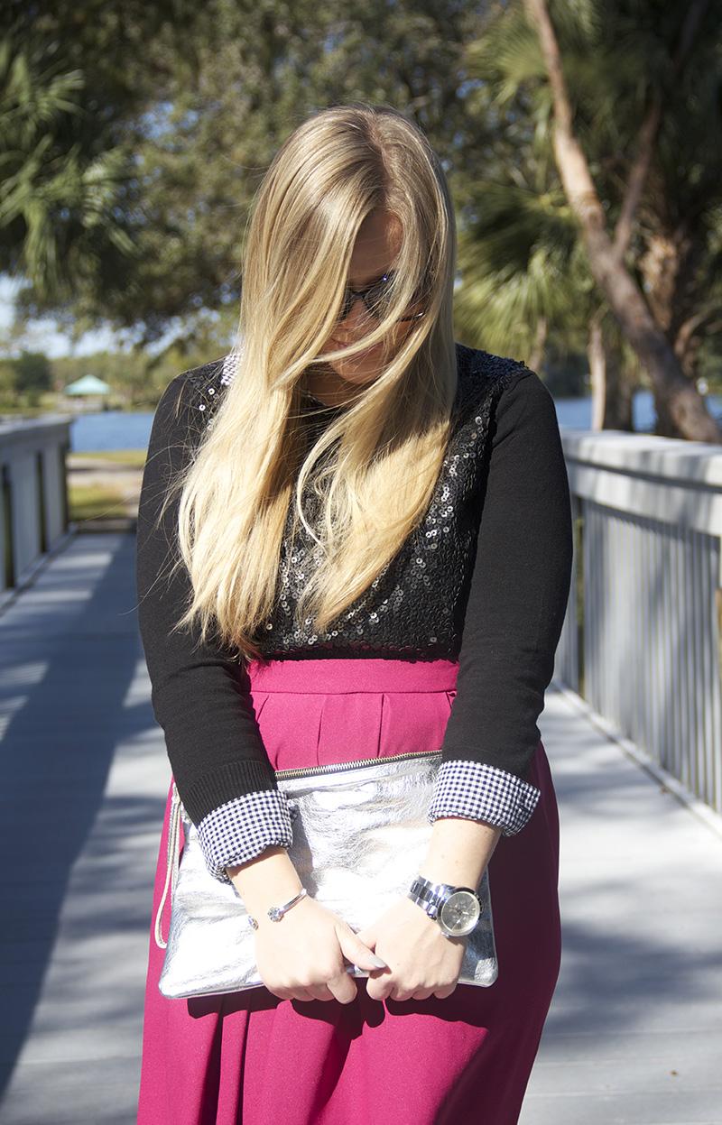 Fuchsia Skirt | Living In Color Print5