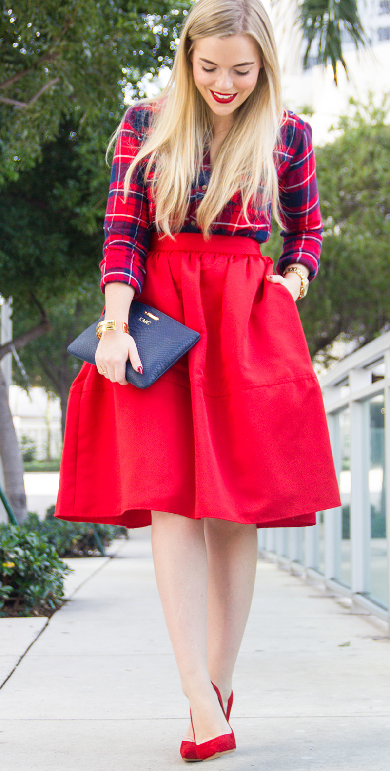 Red Skirt + Tartan | Living In Color Print