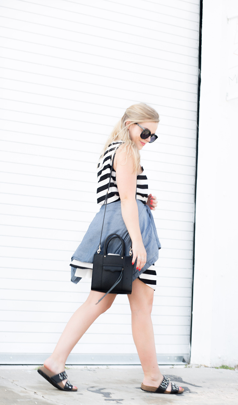 horizontal-black-and-white-stripe-dress