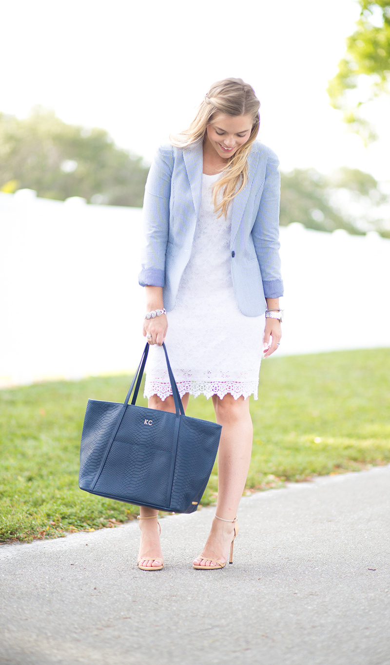 white-lace-dress-seersucker-blazer