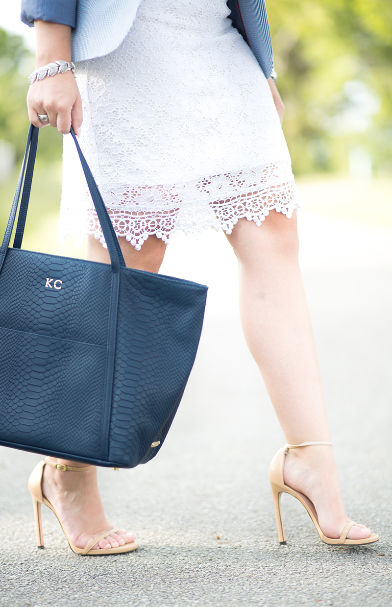 white-lace-dress-navy-tote