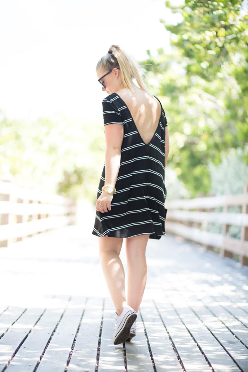 black-and-white-stripe-swing-dress, lulus-backless-swing-dress