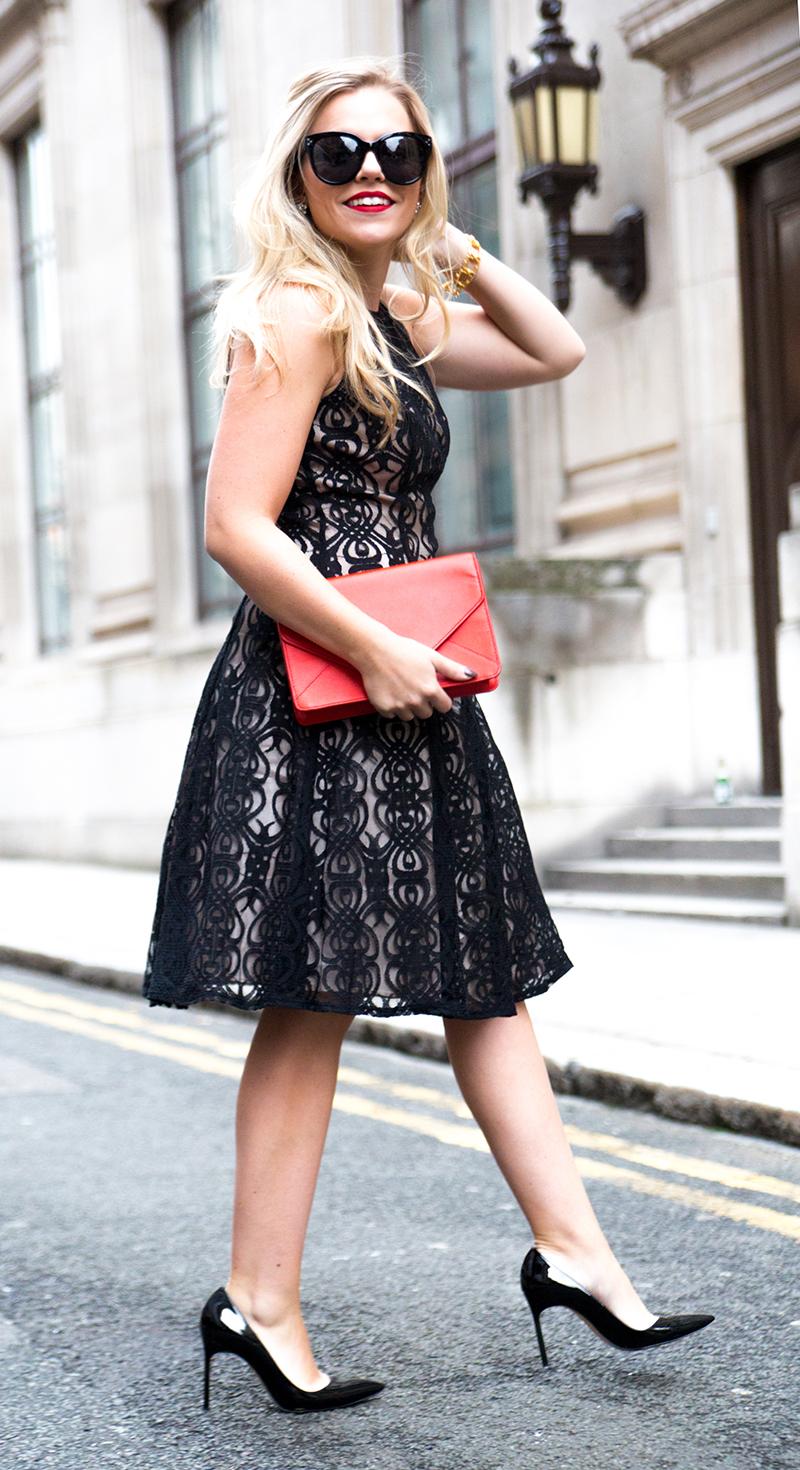 Black + Nude Lace Dress10