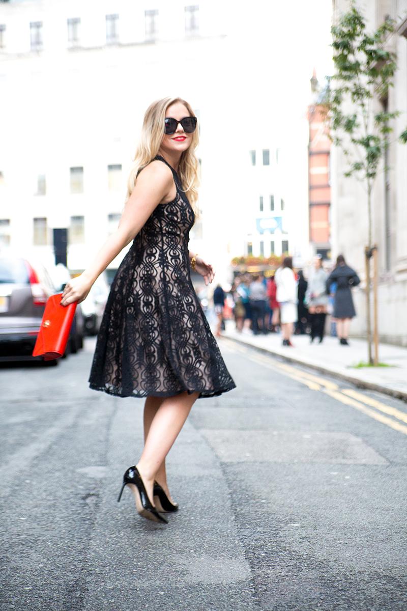 Black + Nude Lace Dress2