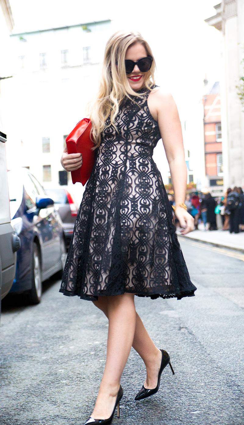 Black + Nude Lace Dress5
