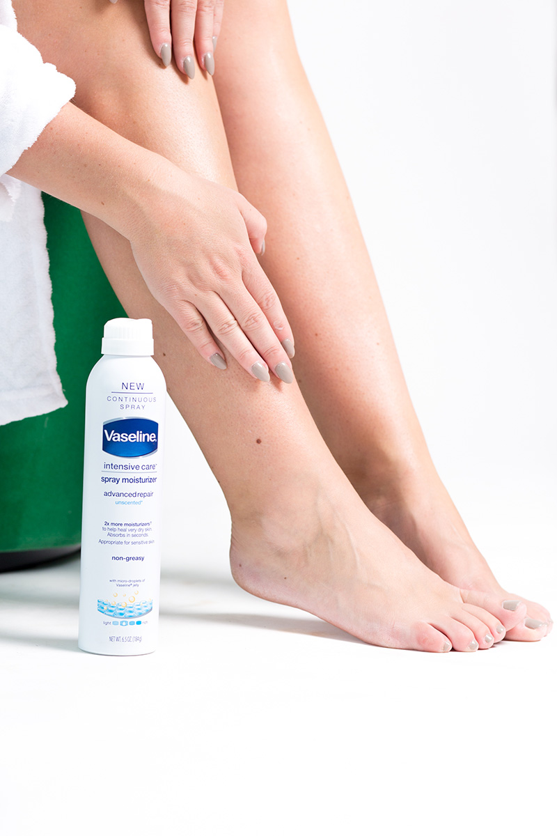 vaseline healthy glow spray lotion review