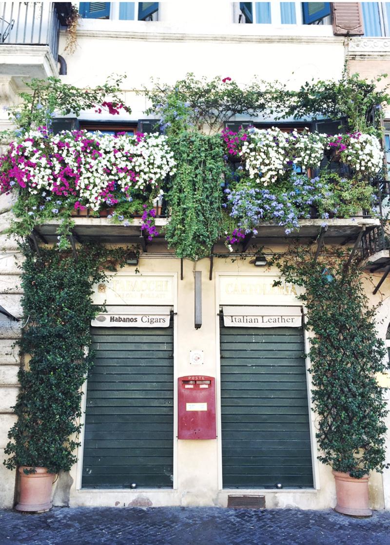 facades of rome, italy
