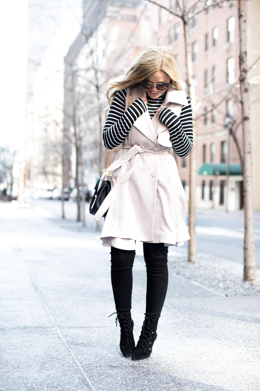 sleeveless trench at new york fashion week