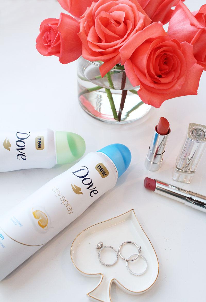 dove dry spray deodorant, new beauty favorites