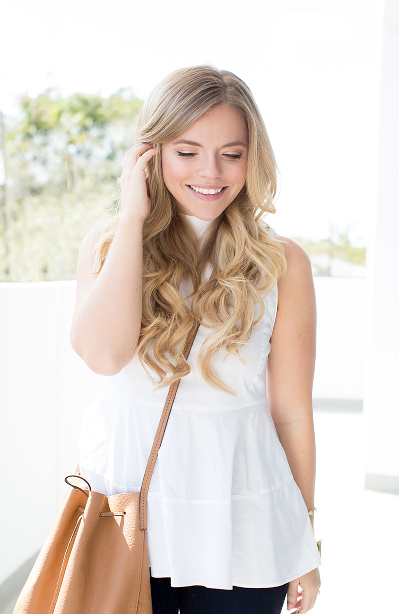 White Peplum Tank | Living In Color Print