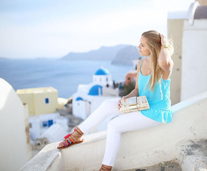 what to wear in Santorini, Greece
