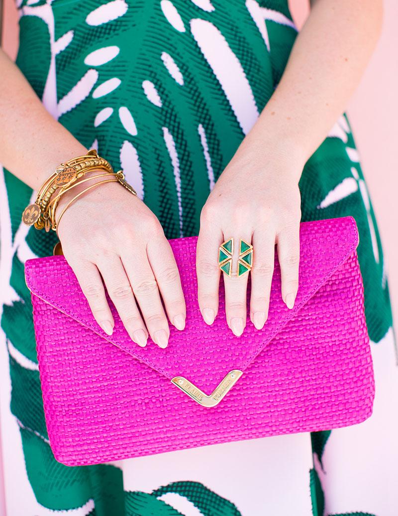 Hot Pink Envelope Clutch