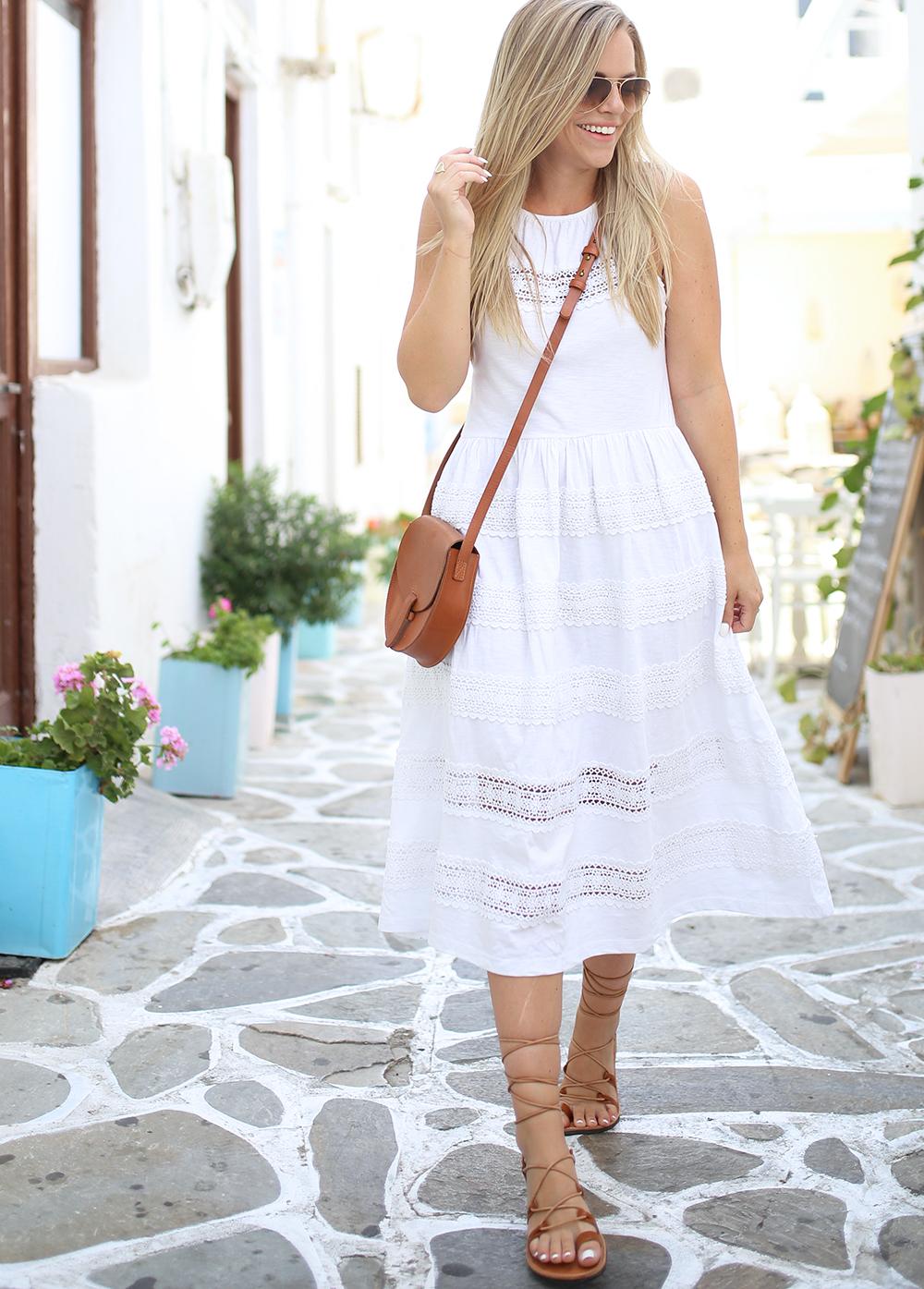 White Cotton Midi