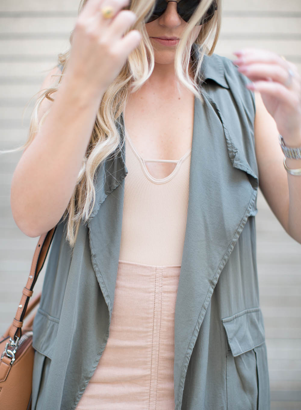 Nude Skirt + Olive Duster | Living In Color Print